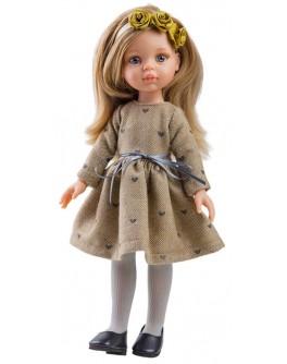 Кукла Paola Reina Карла в коричневом платье 32 см (04413) - kklab 04413