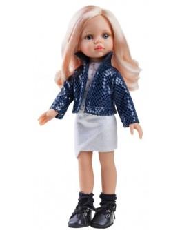 Кукла Paola Reina Карла в синем жакете 32 см (04514) - kklab 04514