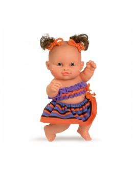 Кукла-пупс европейка в оранжевом, 22 см (01205) Paola Reina - kklab 01205