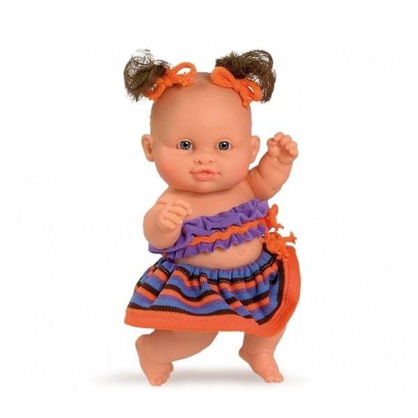 фото Кукла-пупс европейка в оранжевом, 22 см (01205) Paola Reina - kklab 01205