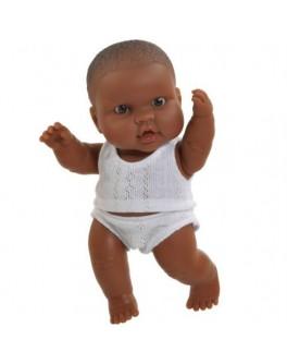 Кукла-пупс Младенец девочка мулатка в трусах и майке Paola Reina (01019) 22 см