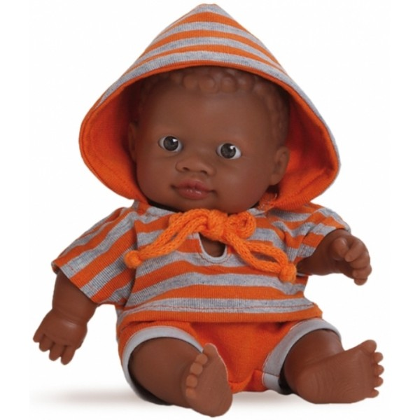 Кукла-пупс мулат в оранжевом, 22 см (01200) Paola Reina - kklab 01200