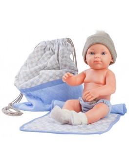 Кукла-пупс Paola Reina Азуль с рюкзаком и одеяльцем 32 см (5109) - kklab 05109