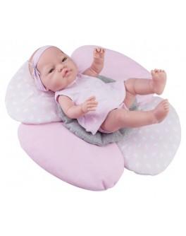 Кукла-пупс Paola Reina девочка младенец с подушкой-цветок 45 см (5181) - kklab 05181