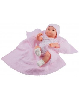 Кукла-пупс Paola Reina Роза с розовым пледом 32 см (5107) - kklab 05107