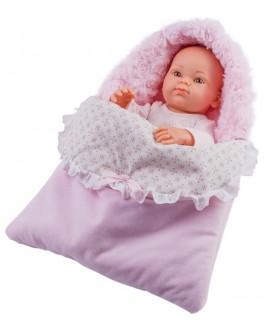 Кукла-пупс Paola Reina Роза в теплом розовом конверте 32 см (5105) - kklab 05105