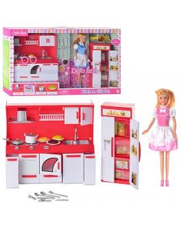Игровой набор Defa Lucy Кукла с кухней (8085)