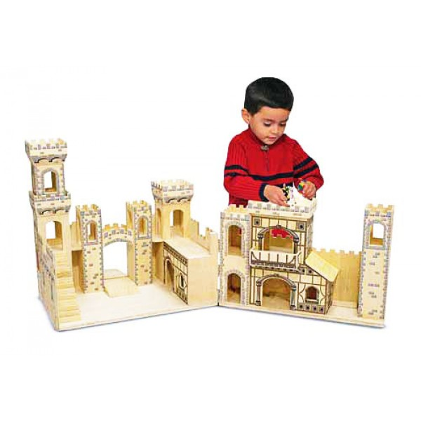 MD11329 Folding Medieval Castle Дерев'яний лицарський замок