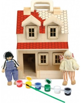 Домик для кукол - Раскраска развивающая игрушка - Der 223