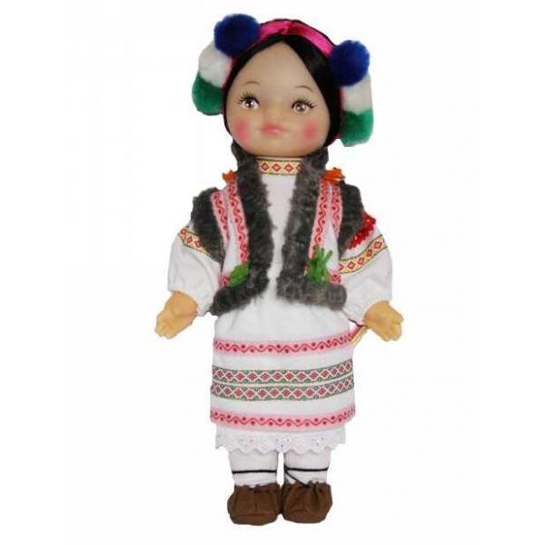 кукла Гуцулка в национальной одежде в подарочном наборе производства Чудисам B225/2