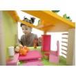 Кукольный дом 2 этажа деревянный набор с гостиной - kklab 82630