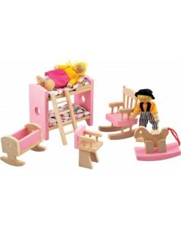 """Набор мебели для кукол """"Детская спальня"""" - Der 271"""