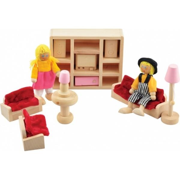 "Набор мебели для кукол ""Комната отдыха"" - Der 275"