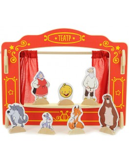 Настольная ширма для пальчикового театра с 16 куклами Кукольный театр - der 170