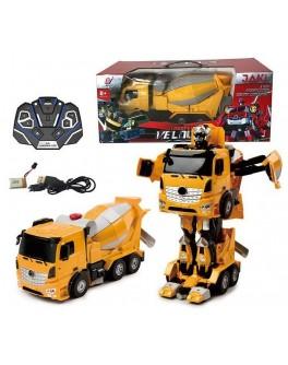 Іграшка Машина-трансформер на радіокеруванні Автобот-бетономішалка (ТТ 679)