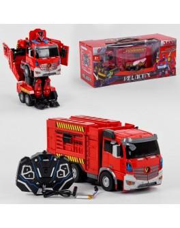 Іграшка Машина-трансформер на радіокеруванні Автобот-пожежна машина (JQ 6608)