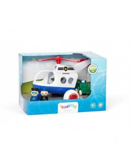 Полицейский вертолет с  двумя фигурками в коробке Viking Toys - kklab 81273