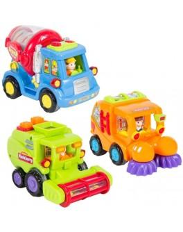 Машинка инерционная Комбайн погремушка, (386 ABC) Huile Toys