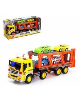 Іграшка Wenyi Машинка інерційна Трейлер Автовоз з машинками 1:16 (WY 570 B)