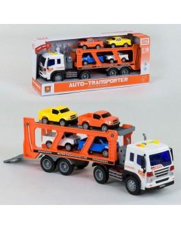 Іграшка Wenyi Машинка інерційна Трейлер Автовоз з машинками 1:16 (WY 572 A)