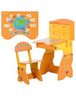 Парта растишка со стулом W 078