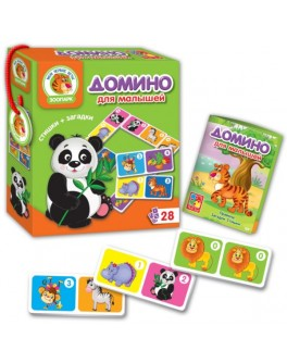 Настольная игра Vladi Toys Домино Зоопарк (VT2100-02) - VT2100-02|VT2100-04