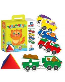 Развивающая игра с мягкой пирамидкой Звероцепы Vladi Toys (VT2906-05) - VT2906-01|VT2906-05