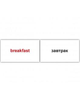 Карточки Домана мини 120 слов англо-русские Вундеркинд с пеленок