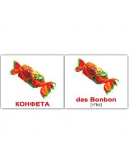 Карточки Домана мини Еда немецко-русские Вундеркинд с пеленок