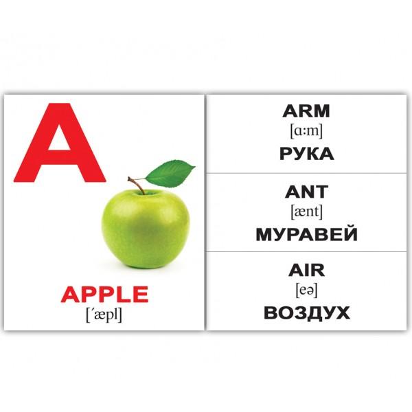 карточки Домана Аlphabet Алфавит английский язык