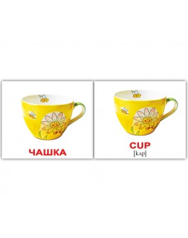 Карточки Домана мини Посуда англо-украинские Вундеркинд с пеленок