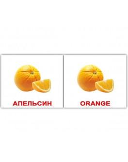 Fruit-Фрукты двуязычные карточки Домана Мини