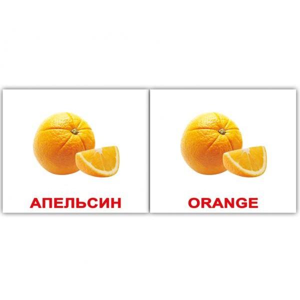 двуязычные карточки домана фрукты мини, Вундеркинд с пелёнок