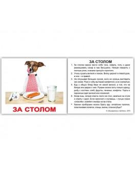 Карточки Домана мини Правила поведения русский язык Вундеркинд с пеленок