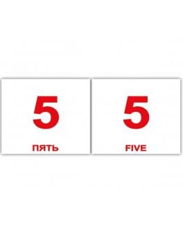 Карточки Домана мини Числа англо-русские Вундеркинд с пеленок