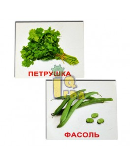 Карточки Домана мини Овощи с фактами русский язык Вундеркинд с пеленок - WK 2100064095634