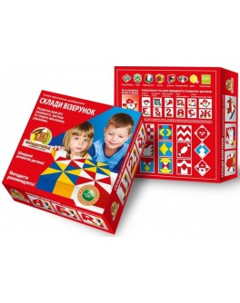 Кубики Нікітіна Склади візерунок Великі дерев'яні Вундеркінд - wkind k-001