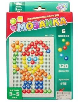 Набор для занятия мозаикой Joy Toy на 120 фишек + доска 26х17, переносной - mlt 2710
