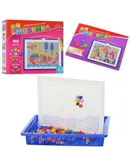 Набор для занятия мозаикой Play Smart на 160 фишек + доска 26х23, переносной - mpl 2701