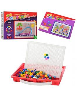 Набор для занятия мозаикой Play Smart на 210 фишек + доска 32х25, переносной - mpl 2706