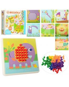 Розвиваюча дитяча мозаїка з шаблонами, 240 фішок (M7E)