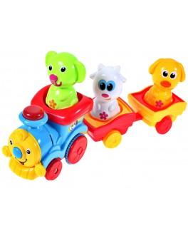 Музыкальный паровозик с животными (57077)
