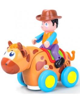 Игрушка музыкальная Ковбой на диком быке, Huile Toys