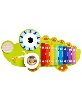 Деревянный ксилофон Крокодил, 8 тонов (MD 1057)