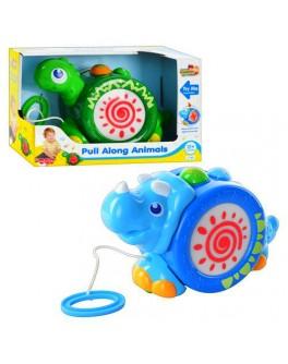 """Игрушка-каталка, музыкальная, """"Динозаврик"""", 2 вида, """"HAP-P-KID"""" - mpl 4205-6 T"""