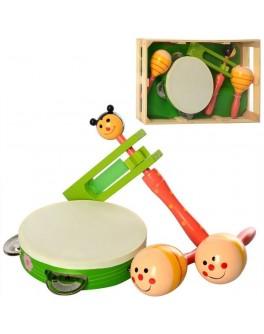 Дерев'яна іграшка Набір дитячих музичних інструментів MD 2353