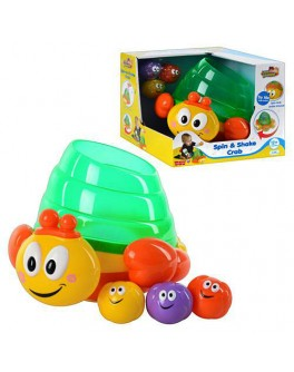 Весёлый краб, развивающая игрушка, движение, свет, звук, HAP-P-KID - mpl 3965 T