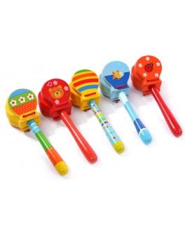 Кастаньеты детские с рисунком Музыкальный инструмент