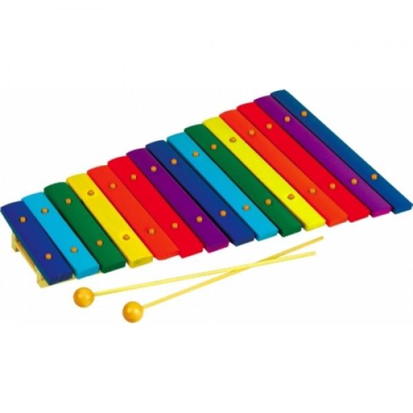 Ксилофон на 15 тонов дерево. Музыкальный инструмент - Rud 047