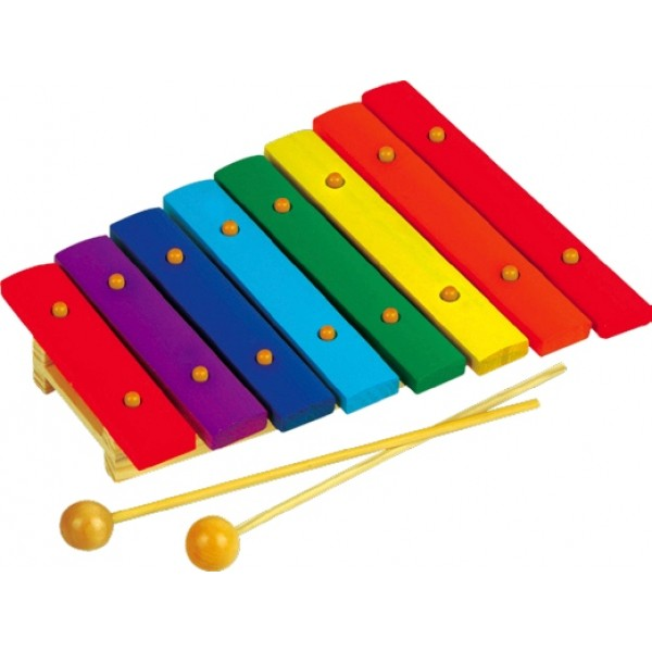 Ксилофон на 8 тонов. Музыкальный инструмент - Rud 045